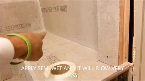 Laying Tile Redguard by How To Waterproof Seal Hardi Backer In Shower Install
