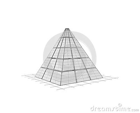wireframe  pyramid royalty  stock images image