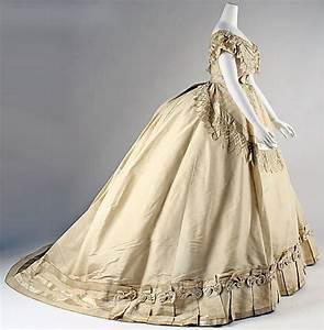 evening dress ca 1867 french silk marking label With robe marguerite