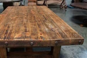 Chef39s Block Old Wood Table Demejico