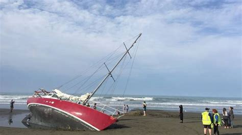 Yacht New Brighton by New Brighton Residents Baffled By Mysteriously Marooned Yacht