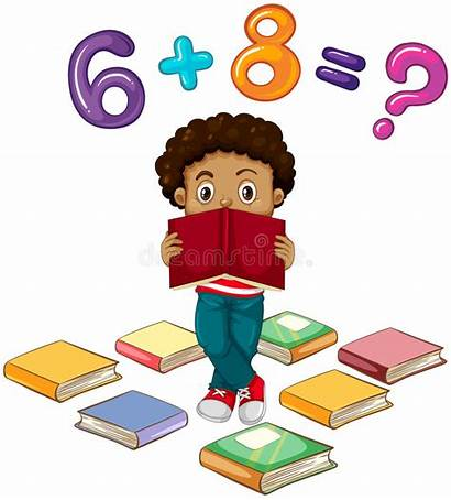 Math Problem Solving Boy Problems Clip Illustration