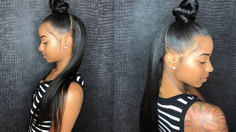 Half Sew In Weave Hairstyles by Back To School Half Up Half Sew In Ft Unice Hair
