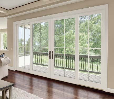panel sliding glass doors  integrity wood