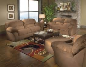 saddle mircro suede casual living room w sewn on arm pillows