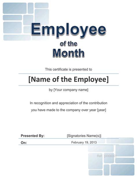employee award cetificate  template  word
