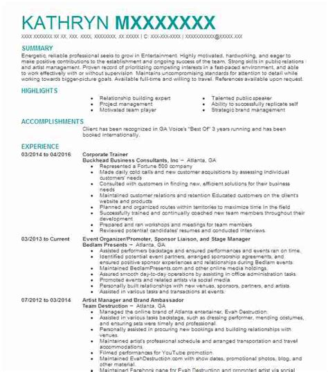Corporate Resume Builder by Corporate Trainer Objectives Resume Objective Livecareer