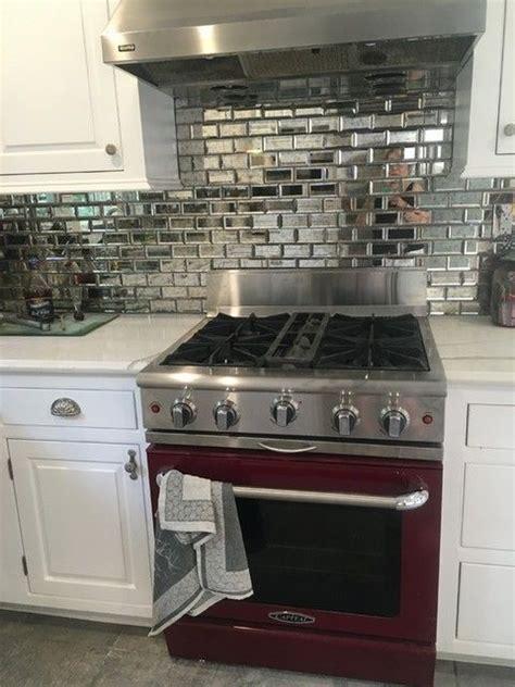 mirrored glass kitchen cabinets kitchen backsplash tile antique mirror bevel amalfi