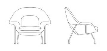 womb chair medium knoll