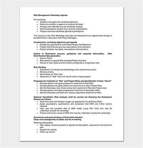 workshop agenda template  docs  word  format