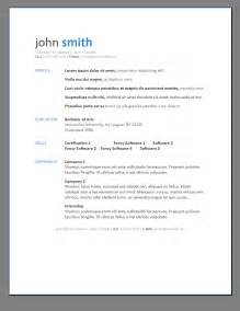 modern looking resume template primer s 6 free resume templates open resume templates