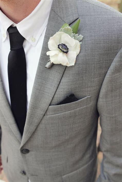 ivory anemone boutonniere