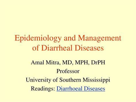 Ppt Epidemiology And Management Of Diarrheal Diseases