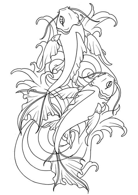 Click SHARE THIS STORY ON FACEBOOK | adult coloring | Koi fish tattoo, Fish drawings, Coloring pages