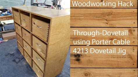 Building A Through Dovetail Drawer / Box Using Porter