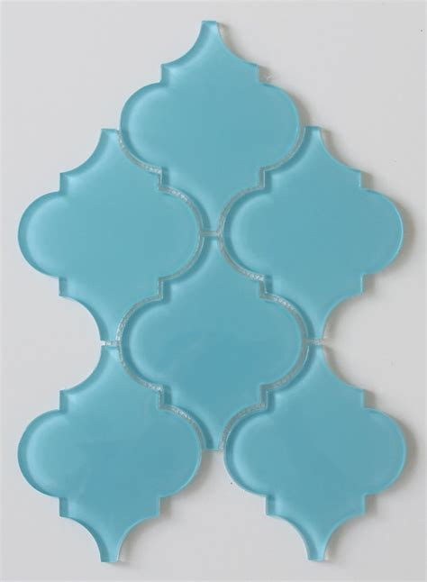 infinity blue arabesque glass mosaic tiles rocky point