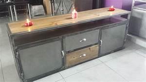 Meuble Industriel Vintage : meuble style industriel ~ Nature-et-papiers.com Idées de Décoration