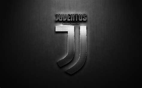 Download wallpapers Juventus FC, black metal background ...