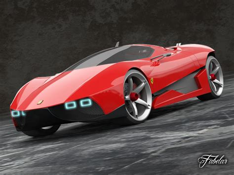 future ferrari models ferrari ego concept 3d model animated rigged max obj fbx