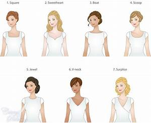 lds wedding dresses which neckline fits your face and With wedding dress necklines