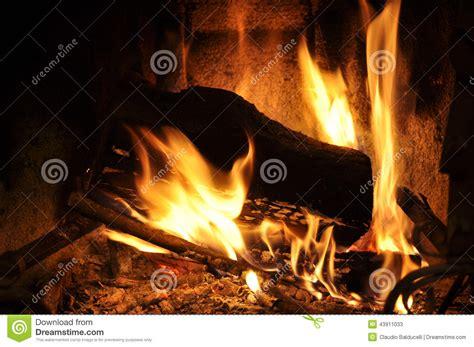 Burning Fireplace Stock Photo Image 43911033