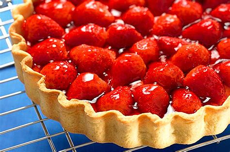quick strawberry tart recipe goodtoknow