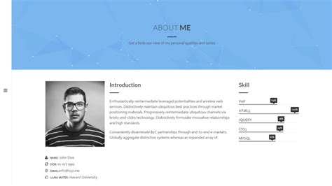25 best cv and resume themes 2018 theme junkie