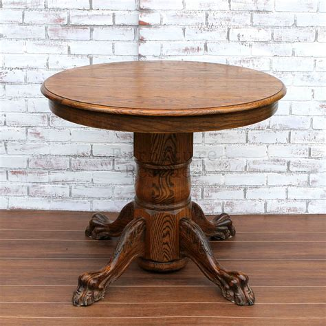 pedestal table with leaf small clawfoot pedestal dining table furniture rescues