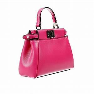 fendi handbag leather with shoulder micro peekaboo bag in With fendi letter bag