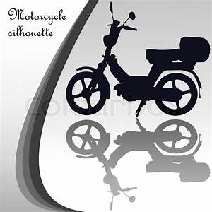 Motorcycle Silhouette  Abstract Vector Art Illustration