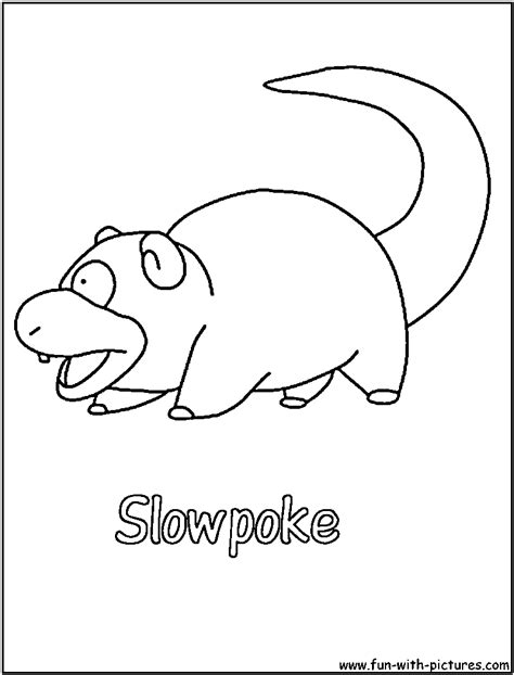 Water Pokemon Slowpoke Coloring Pages