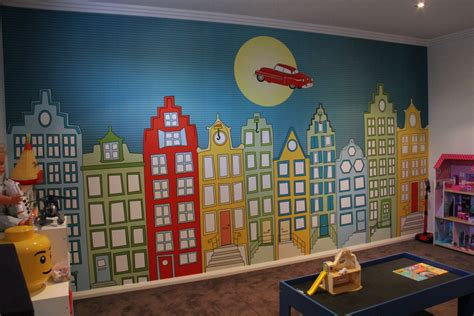 behang babykamer huisjes slaapkamer ideeen 12 kinderkamer behang jongenskamer
