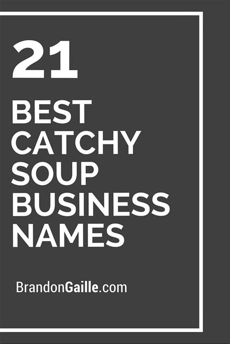 catchy soup business names catchy slogans