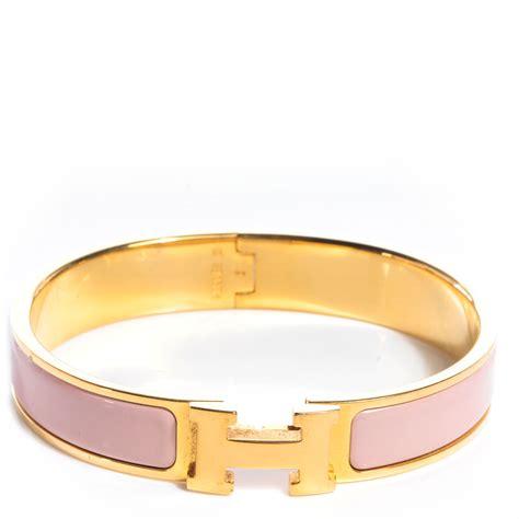 hermes narrow enamel clic clac h bracelet pm poudre 68359