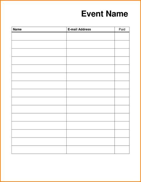 Blank Sign Up Sheet Pdf by Blank Sign Up Sheet Printable Loving Printable