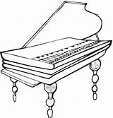 Piano Coloring Pages sketch template