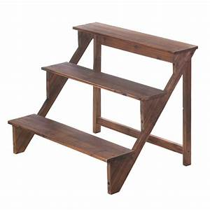 Wooden, Steps, Plant, Stand, Wholesale, At, Koehler, Home, Decor