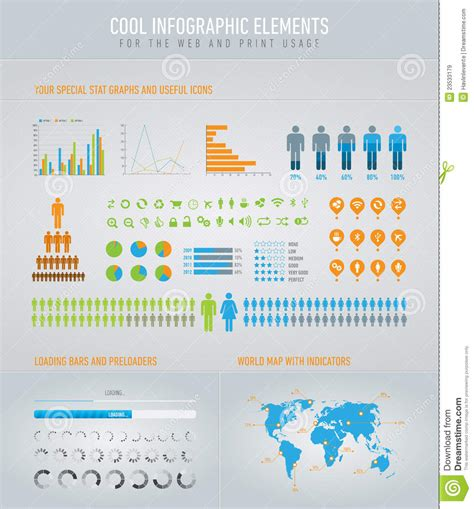 Cool Infographic Elements Royalty Free Stock Images
