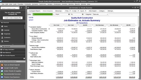 quickbooks enterprise solutions contractor software