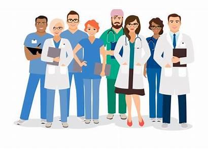Clipart Staff Medical Team Doctor Cartoon Hospital