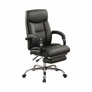 Adjustable, Height, Office, Chair, Black, And, Chrome