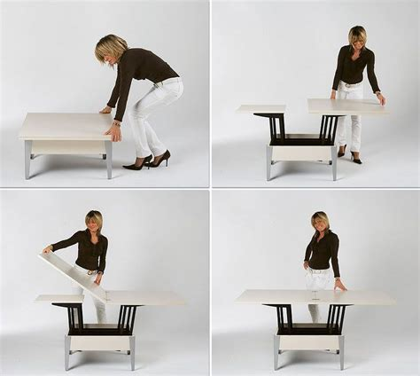 Whatever use you put it to, this unique set is a conversation piece as well as a focal point. Convertible Tables: Smart and Modern Solutions for Small Spaces | Convertible table, Adjustable ...