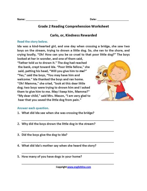 1st grade reading comprehension worksheets multiple choice informationacquisition