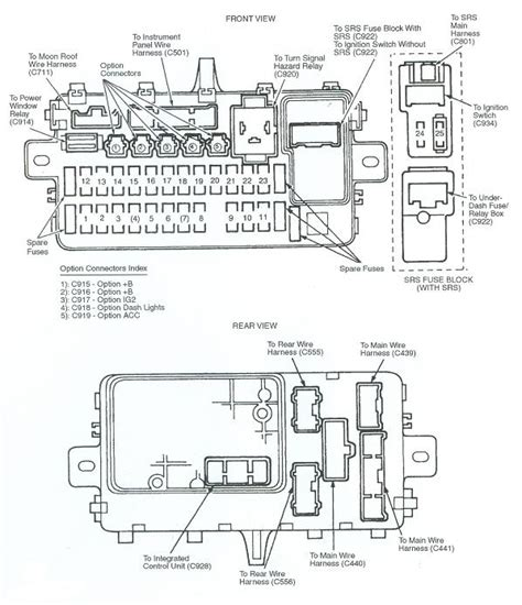 Fuse Box Diagram For Honda Civic Automotive Wiring