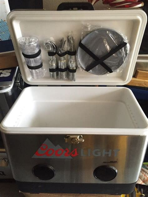 bud light yeti cooler coors light stainless beer cooler w speakers sports
