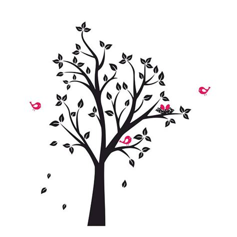 tree birds nest graphics svg dxf eps png cdr ai  vector art