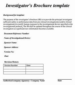 Investigator brochure 7 free download for word ppt pdf for Investigator brochure template
