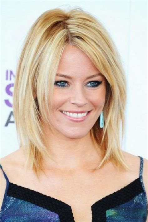 elizabeth banks sliced long trendy blonde bob styles weekly