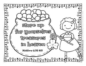 Patrick's day grab your best green crayons and print our free st patricks day coloring pages to share with your family, friends, and classroom. St. Patrick's Day Bible Coloring Pages - Christian ...