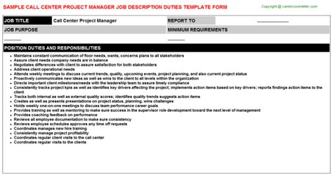 Call Center Supervisor Description And Duties by Call Center Supervisor Descriptions